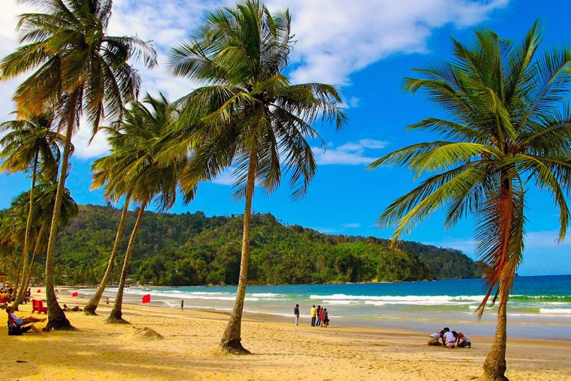 Trinidad_1_Kokosove palme na peščeni plaži Maracas