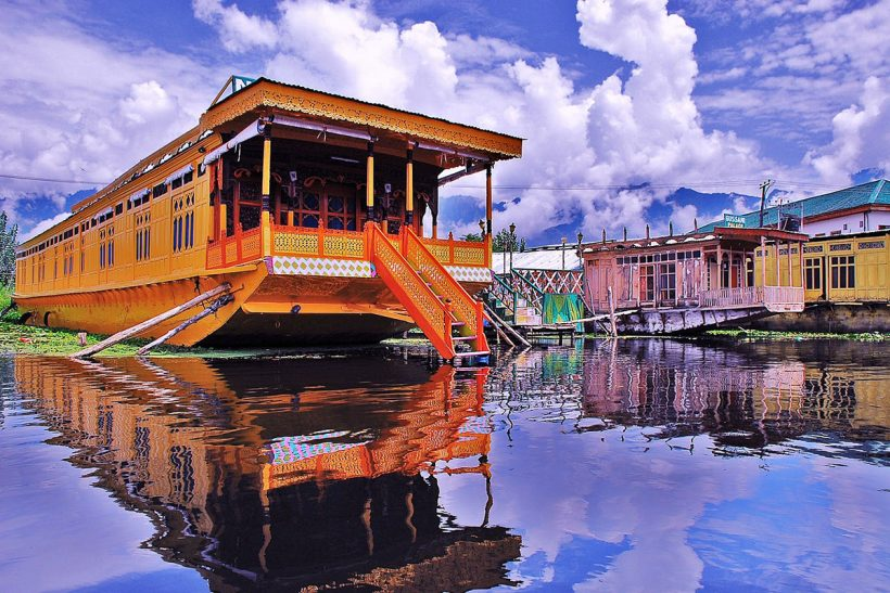 Hisa Potovanj Srinagar Jezero Dal Indija 005 Hotelske Ladjice